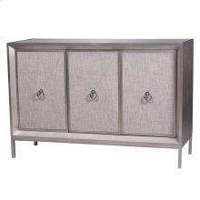 Mancini Mirrored Sideboard 3 Doors, Cream/Silver