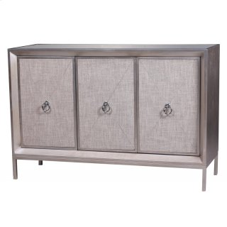 Mancini Mirrored Sideboard 3 Doors, Cream/Silver