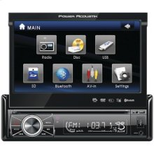 """7"""" Single-DIN In-Dash Motorized LCD Touchscreen DVD Receiver with Detachable Face (With Bluetooth®)"""