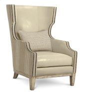 Madison Natural Wing Chair With Leather
