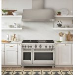"Cafe 48"" Dual-Fuel Professional Range With 6 Burners And Griddle (Natural Gas)"