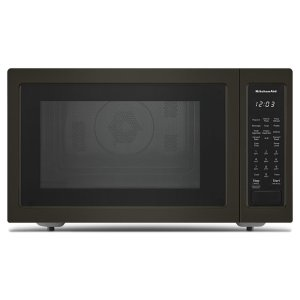 "KITCHENAID21 3/4"" Countertop Convection Microwave Oven with PrintShield(TM) Finish - 1000 Watt - Black Stainless"