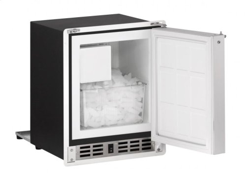 "15"" Marine Crescent Ice Maker White Solid Field Reversible"