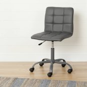 Office Chair with Quilted Seat - Gray