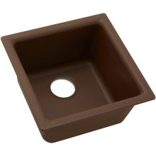 "Elkay Quartz Classic 15-3/4"" x 15-3/4"" x 7-11/16"", Single Bowl Dual Mount Bar Sink, Pecan"
