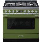 "Portofino Pro-Style Dual Fuel Range, Olive green, 36"" x 25"" Product Image"
