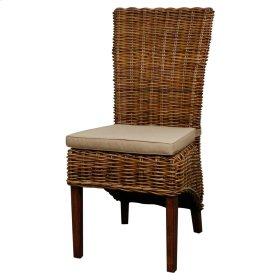 Chance Rattan Side Chair, Brown