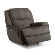 Nance Fabric Power Gliding Recliner with Power Headrest