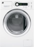 "GE 24"" 2.6 Cu. Ft. Compact Washer, Stainless Steel Drum, Internal Water Heater, 1400 RPM Product Image"