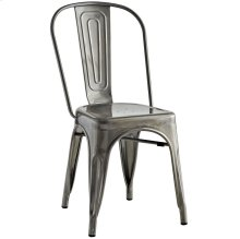 Promenade Steel Dining Side Chair in Gunmetal