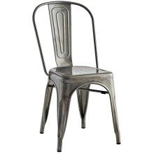 Promenade Side Chair in Gunmetal
