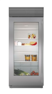 "36"" Built-In Glass Door Refrigerator"