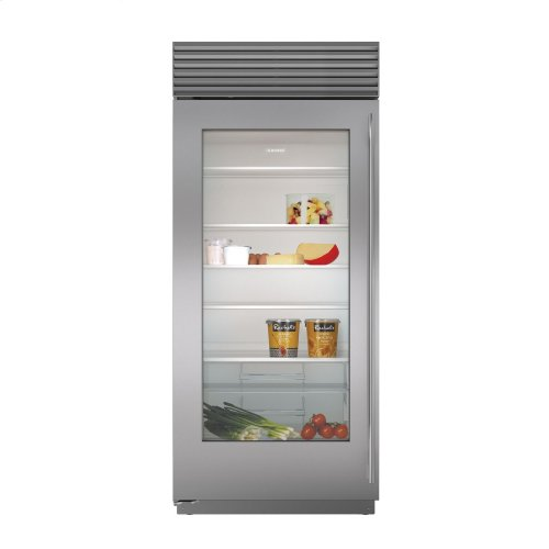 36 built in glass door refrigerator - Refridgerator Glass Door