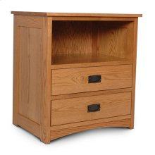 Prairie Mission Deluxe Nightstand with Opening