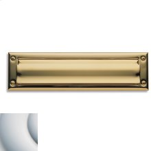 Satin Chrome Letter Box Plates