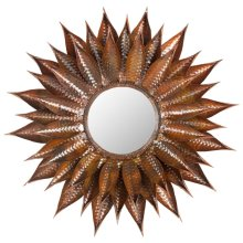 Sunflower Mirror - Burnt Copper W / Clear P / Coat