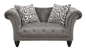 Emerald Home Hutton II Loveseat Nailhead W/2 Pillows Thunder Bella U3164-01-13