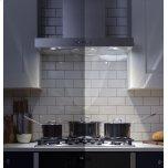 "GE Profile 36"" Designer Wall Mount Hood w/ Dimmable LED Lighting"