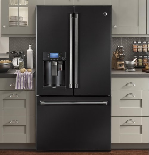 GE Cafe™ Series ENERGY STAR® 22.2 Cu. Ft. Counter-Depth French-Door Refrigerator with Keurig® K-Cup® Brewing System