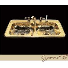 Gourmet - Kitchen Sink - Hammertone Pattern - Polished Copper