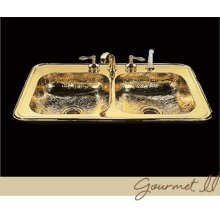 Gourmet - Kitchen Sink - Hammertone Pattern - Polished Copper