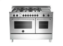 48 6-Burner + Griddle, Gas Double Oven LP Stainless