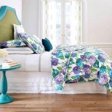 Hydrangea Quilt & Shams, Blue, Full/queen