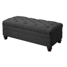 Roy Traditional Grey Ottoman