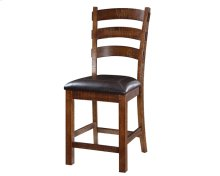 """Emerald Home Castlegate Barstool Bonded Leather Seat 24"""" Pine D942dc-24"""