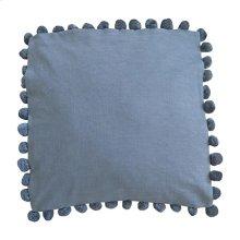 """Alma Pom Pom Square Pillow (22"""" x 22"""") - Graphite"""