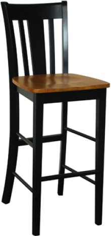 "30"" San Remo Stool Cherry & Black"