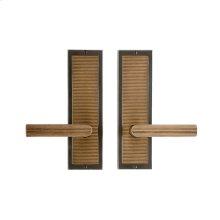 "Flute Passage Set - 3"" x 10"" White Bronze Dark"