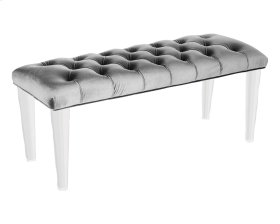Glamour Bench, Light Grey