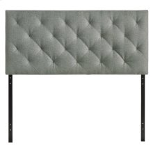 Theodore Queen Upholstered Fabric Headboard in Gray