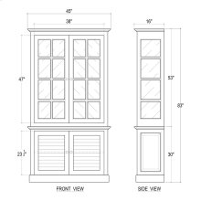 2 Door Cottage Cabinet w/ Glass - WHD