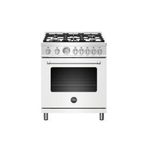 Bertazzoni30 inch 5-Burner, Electric Oven Matt White