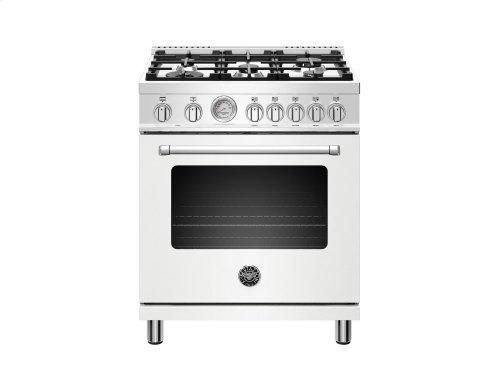 30 inch 5-Burner, Electric Oven Matt White