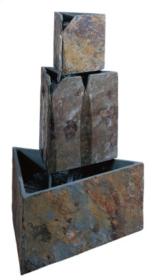 Stacked Triangles - Outdoor Floor Fountain