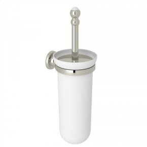 Polished Nickel Perrin & Rowe Wall Mount Toilet Brush Holder