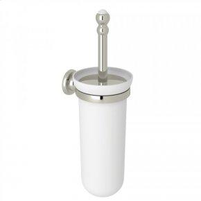 Polished Nickel Perrin & Rowe Edwardian Wall Mount Toilet Brush Holder