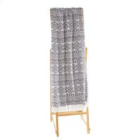 Grey & White Diamond Tribal Throw Product Image