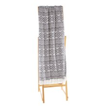 Grey & White Diamond Tribal Throw