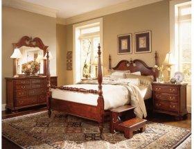 Low Poster Queen Bed - Complete