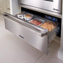 """Renaissance 36"""" Epicure Warming Drawer, in Stainless Steel with Chrome Trim"""
