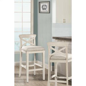 Hillsdale FurnitureBayview Wood X-back Non-swivel Bar Stool - White Wirebrush - 2 Stools Per Ctn