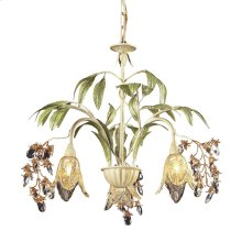 Huarco 3-Light Chandelier in Seashell and Sage Green