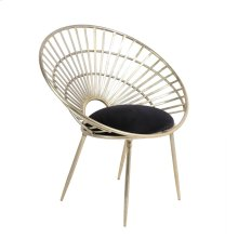"Iron 33"" Fan Chair, Gold"