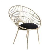 "Iron 33"" Fan Chair, Gold"
