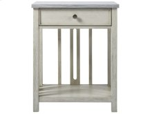 Bedside Table with Stone Top