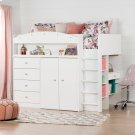 Loft Bed with Desk - Pure White Product Image